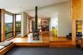 Картинка design, New Zealand, style, interior, fireplace, living space