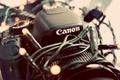 Картинка canon, гирлянда, фотоаппарат, камера