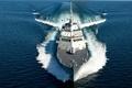 Картинка Корабль, море, скорость, вооружение, палуба, пушка