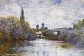 Картинка пейзаж, Ветёй. Маленький Рукав Сены, картина, Клод Моне