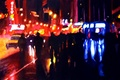 Картинка ночь, движение, улица, light, Арт, night, art, street