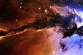 Картинка туманность, планеты, космос, звёзды