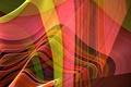 Картинка цвет, лучи, узор, объем, линии