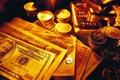 Картинка Деньги, золото, слитки, монеты, доллары