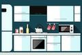 Картинка микроволновка, кухня, вектор, мебель, чайник