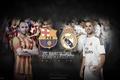 Картинка el clasico, Barcelona, Real Madrid, Iniesta, Isco