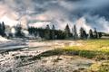 Картинка Lower Geyser Basin Dreams, пейзаж, природа