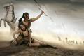 Картинка конь, хвостик, парень, стрелы, белый, усталость, ранение, злость, девушка, мужчина, фэнтази