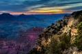 Картинка горы, каньон, Grand Canyon National Park, скалы, закат, США