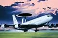 Картинка art, airplane, painting, aviation, Boeing E-3 Sentry