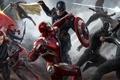 Картинка Scarlett Johansson, Vision, art, Falcon, Captain America, Natasha Romanoff, Hawkeye, Jeremy Renner, Chris Evans, black ...