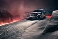 Картинка зима, снег, горы, ночь, Mercedes-Benz, кроссовер, GLA