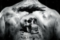 Картинка Неудержимые, the expendables, фильм, ворон, череп, спина, тату