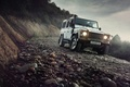 Картинка Light, Land Rover, Front, 4x4, Defender, SUV, Jeep, Mountain Road