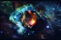 Картинка stars, universe, space, арт, art, nebula, космос, звезды, туманность