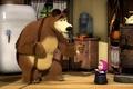 Картинка комната, цилиндр, леденец, холодильник, мульт, маша и медведь