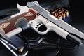 Картинка оружие, kimber, патроны, ACP, Carry II, Crimson, обоймы, кобура, custom, пистолет