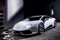 Картинка Lamborghini, White, Huracan, LP610