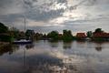 Картинка река, дома, лодки, Нидерланды, Голландия, Nauerna