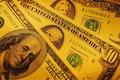 Картинка Деньги, доллары, желтый фон