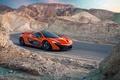 Картинка McLaren, Orange, Carver, Front, Death, Sand, Supercar, Valley, Hypercar, Exotic, Canyon, Volcano