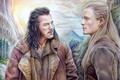 Картинка Legolas, Хоббит, Bard The Bowman, The Hobbit, горы