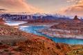 Картинка Природа, Горы, Озеро, США, Пейзаж, State Park, Парки, Glen Canyon Chelly