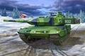 Картинка painting, LEOPARD 2 A5, art, war, tank