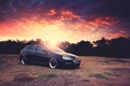 Картинка небо, солнце, закат, Volkswagen, блик, гольф, Golf, фольксваген, Typ 1K, 5-door