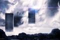 Картинка камни, облака, фигуры, desktopography