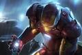 Картинка Железный человек, iron man, красный