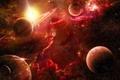 Картинка stars, planet, red, планеты, space, красные, nebula, космос, звезды, туманность