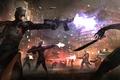 Картинка оружие, мегаполис, схватка, город, банда, убийцы, бойня, преступники, бой, фантастика