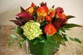 Картинка Hydrangea, гортензия, букет, Roses, розы, каллы