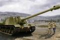 Картинка russian tank, ISU-152, ww2, tank, war, art