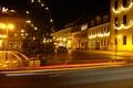 Картинка дорога, ночь, огни, Германия, Радеберг