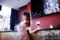 Картинка азиатка, вино, настроение, девушка, бокал
