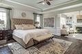 Картинка кровать, подушки, спальня, комод
