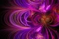 Картинка графика, волны, фрактал, фигура, абстракция, линии, фиолетовый