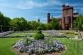 Картинка город, парк, фото, замок, газон, США, Smithsonian