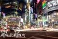 Картинка огни, Tokyo, улица, Japan, Shinjuku, ночь, выдержка