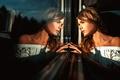Картинка The melancholy, стекло, отражение, девушка, Георгий Чернядьев, Ирина Регент