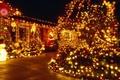 Картинка Новый год, ночь, елка, гирлянда, украшения