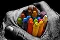 Картинка карандаши, обои, серое, арт, руки