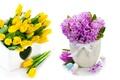 Картинка flowers, spring, букет, tulips, тюльпаны, яйца, гиацинты, easter, lilac