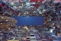 Картинка Китай, Гонконг, ночь, дома, небо, балкон