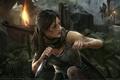 Картинка оружие, Лара Крофт, Tomb Raider, мост, game wallpapers, Расхитительница Гробниц, факелы, нож, Tomb Raider fanart, ...