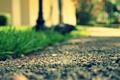 Картинка макро, фон, асфальт, дорога, обои, зелень, луг, трава, камни