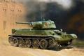 Картинка war, art, painting, tank, T-34/76 (early 1943 production), WWII Soviet Medium Tank