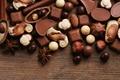 Картинка сладости, анис, орехи, бадьян, шоколад, десерт, конфеты